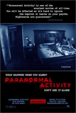 Cartel de Paranormal Activity