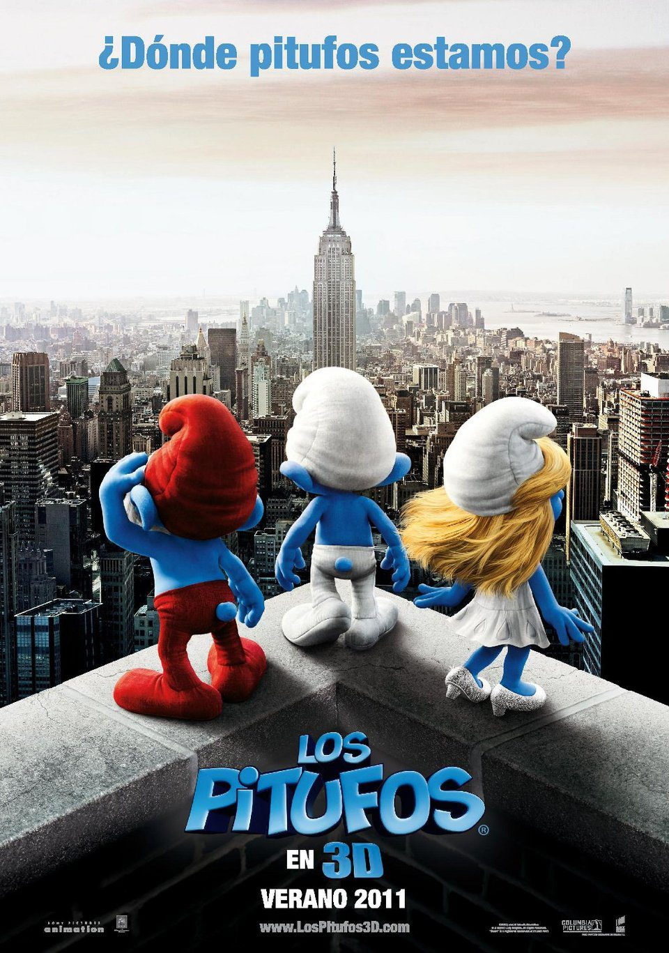 Cartel Teaser España de 'Los Pitufos'