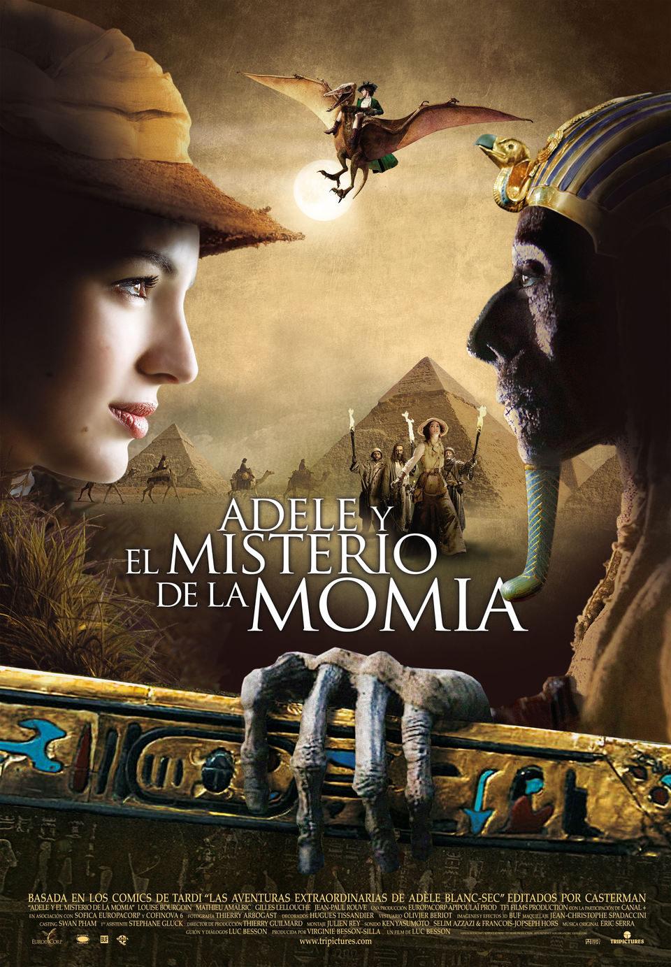 Cartel España de 'Adèle y el misterio de la momia'