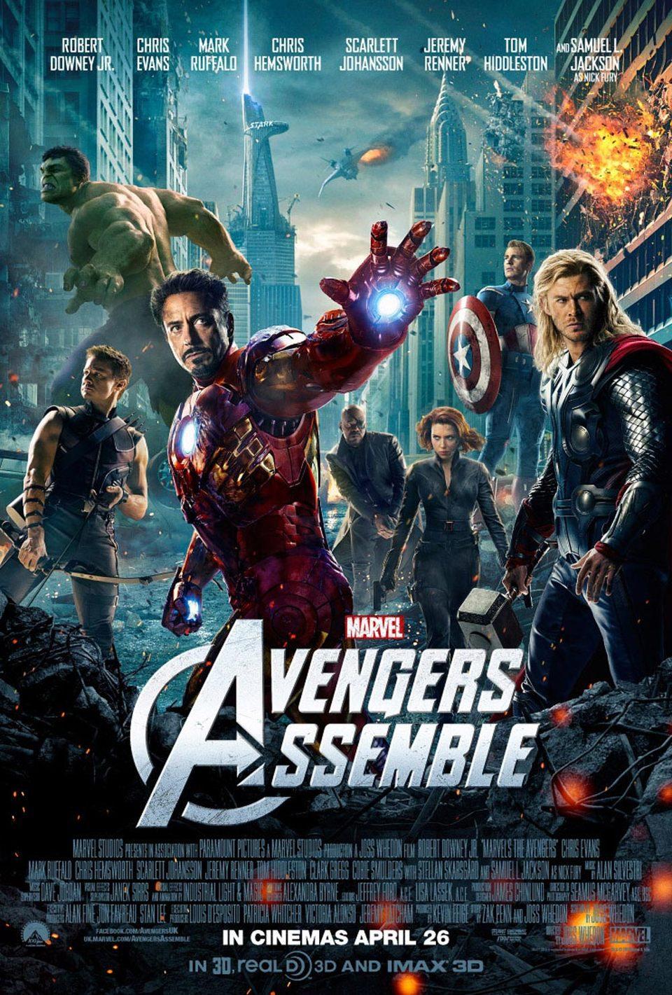Cartel UK de 'Los Vengadores'