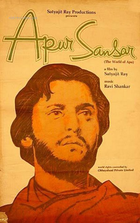 Cartel India de 'Apur Sansar (El mundo de Apu)'
