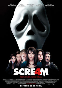 Cartel de Scream 4