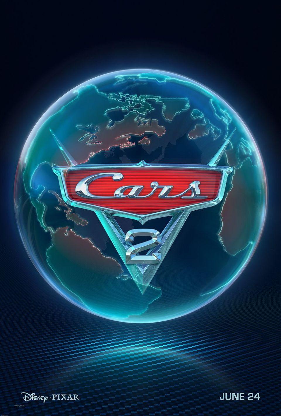 Cartel Teaser Estados Unidos de 'Cars 2'
