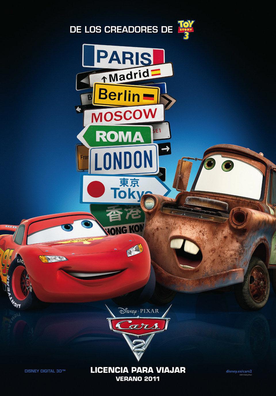 Cartel España de 'Cars 2'