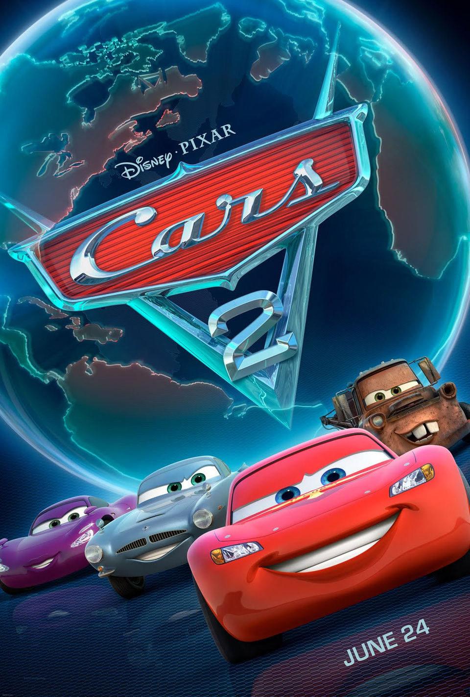 Cartel Estados Unidos de 'Cars 2'