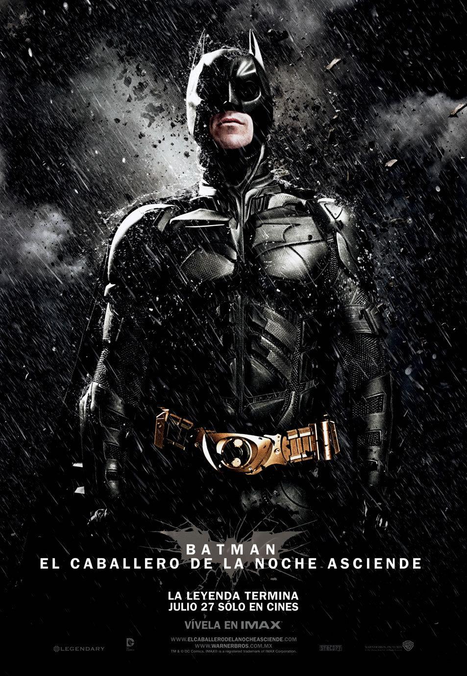 Cartel México de 'El Caballero Oscuro: La leyenda renace'