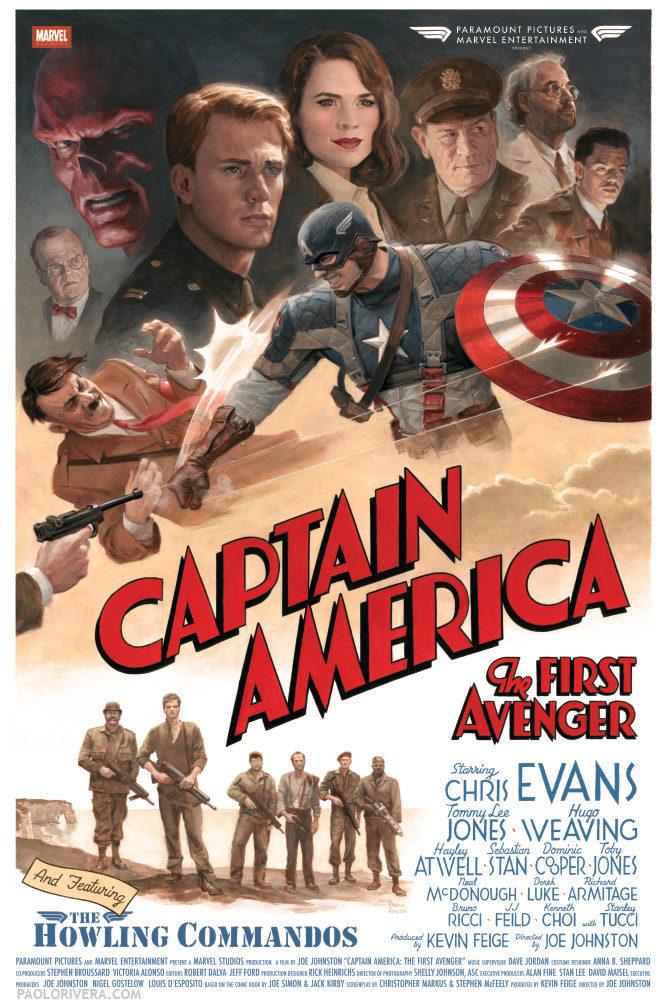 Cartel Vintage de 'Capitán América: El primer vengador'
