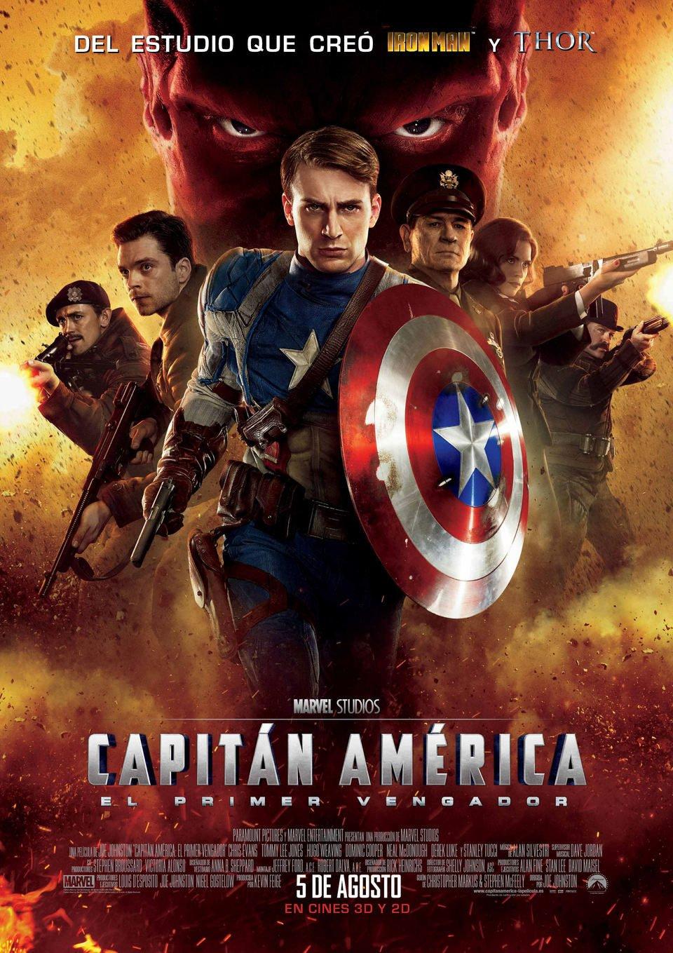 Cartel España de 'Capitán América: El primer vengador'