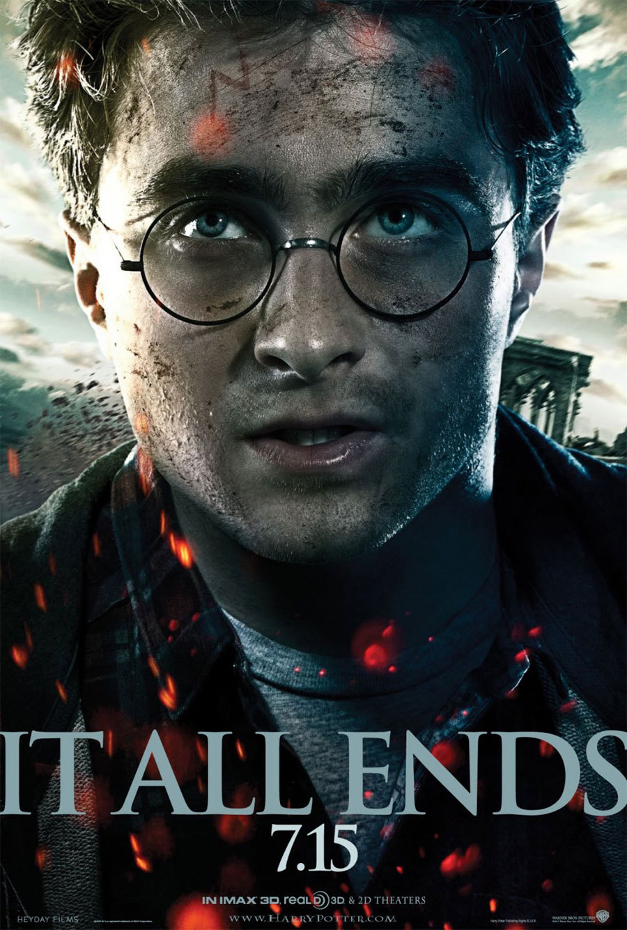 Cartel EEUU de 'Harry Potter y las reliquias de la muerte: parte 2'