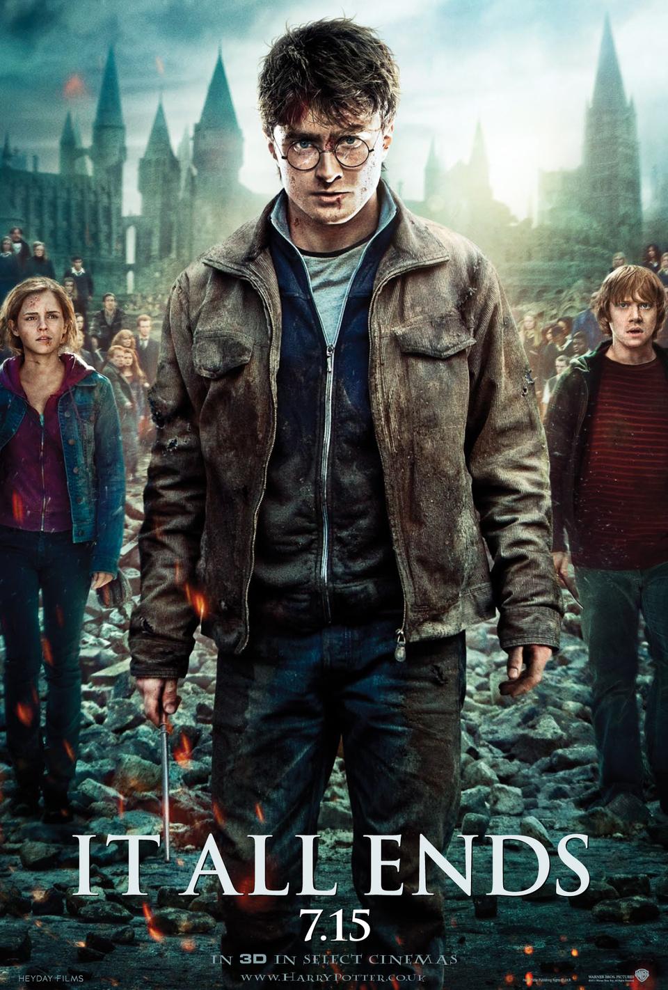 Cartel Estados Unidos de 'Harry Potter y las reliquias de la muerte: parte 2'