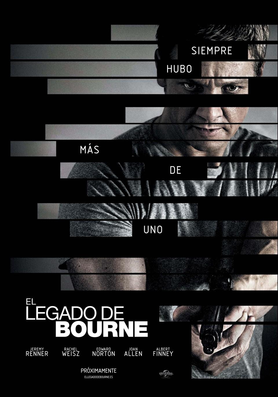 Cartel España de 'El legado de Bourne'