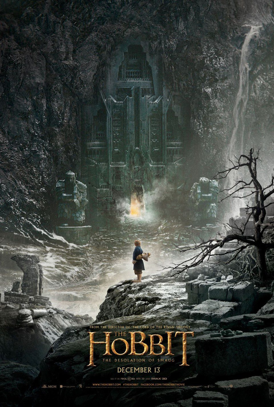 Cartel Teaser EEUU de 'El Hobbit: La desolación de Smaug'