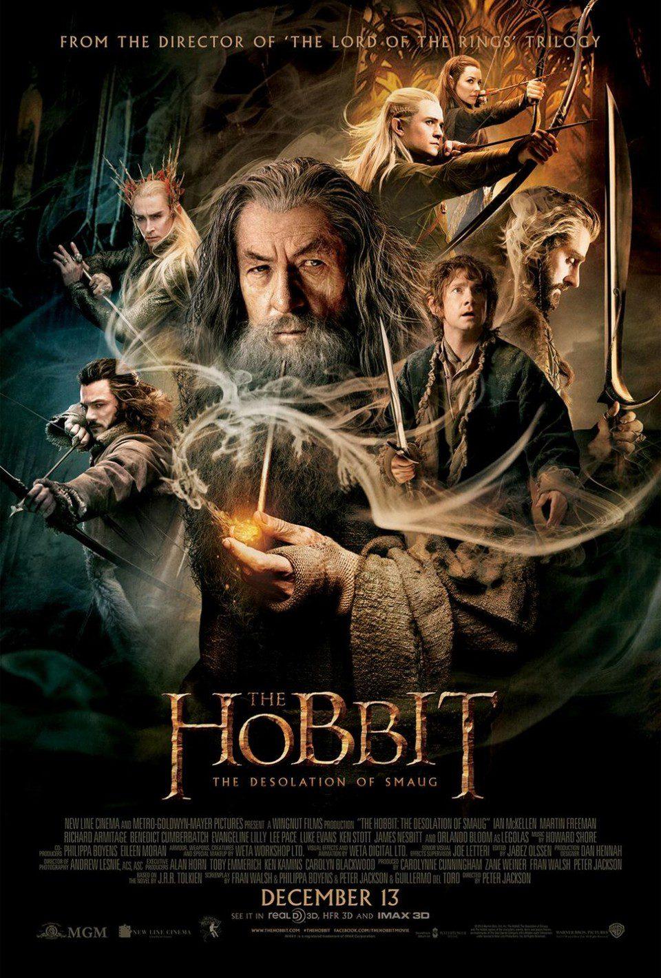 Cartel EEUU de 'El Hobbit: La desolación de Smaug'