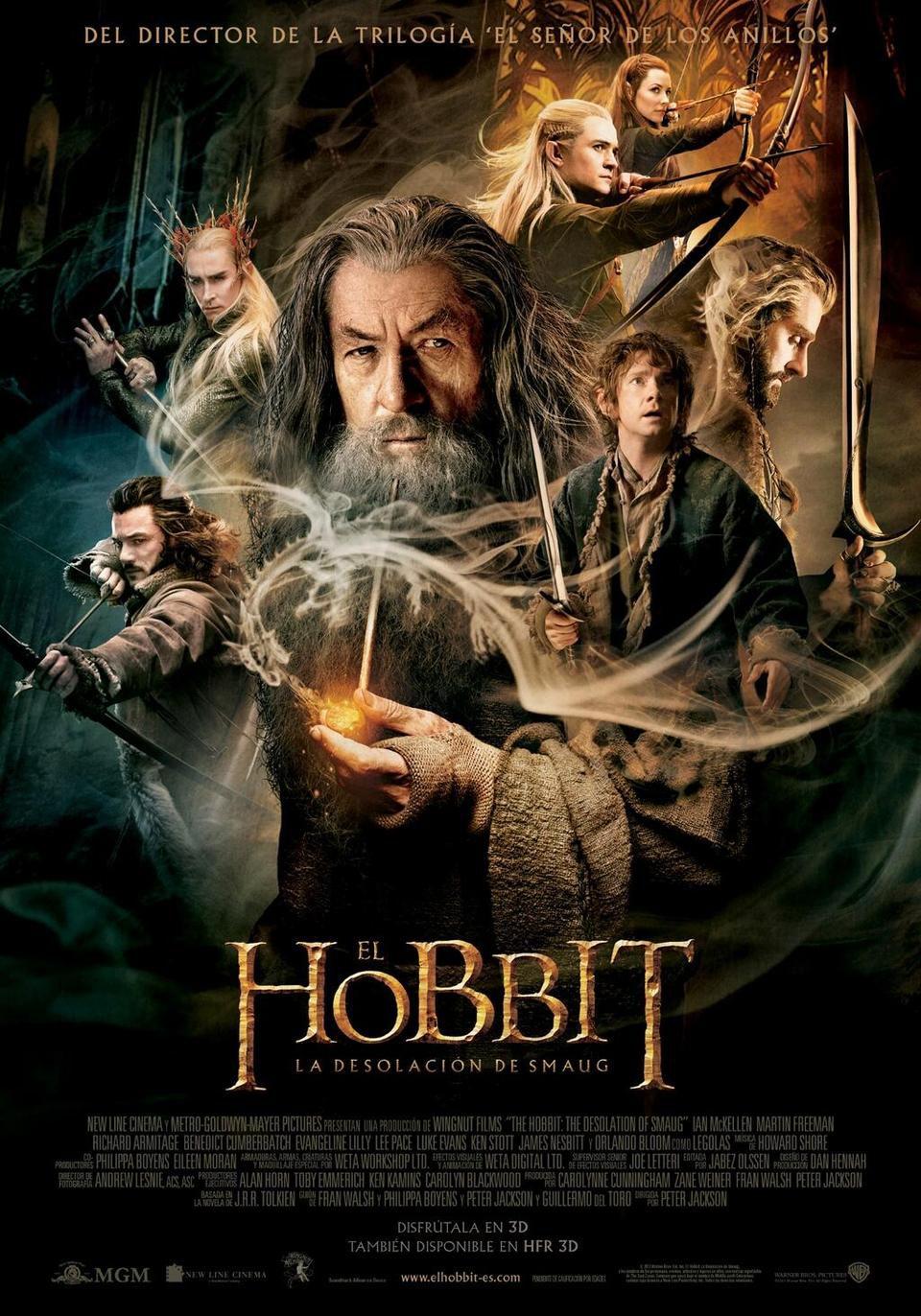Cartel España de 'El Hobbit: La desolación de Smaug'