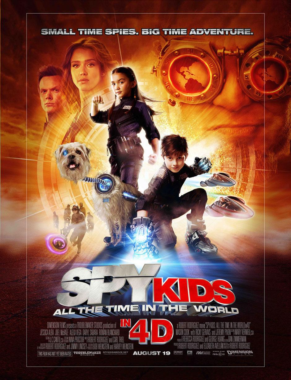 Cartel Estados Unidos de 'Spy Kids 4: Todo el tiempo del mundo'