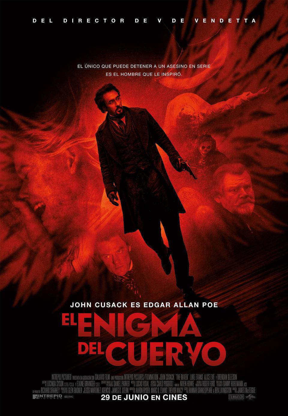 Cartel España de 'El enigma del cuervo'