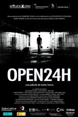 Cartel de Open 24h