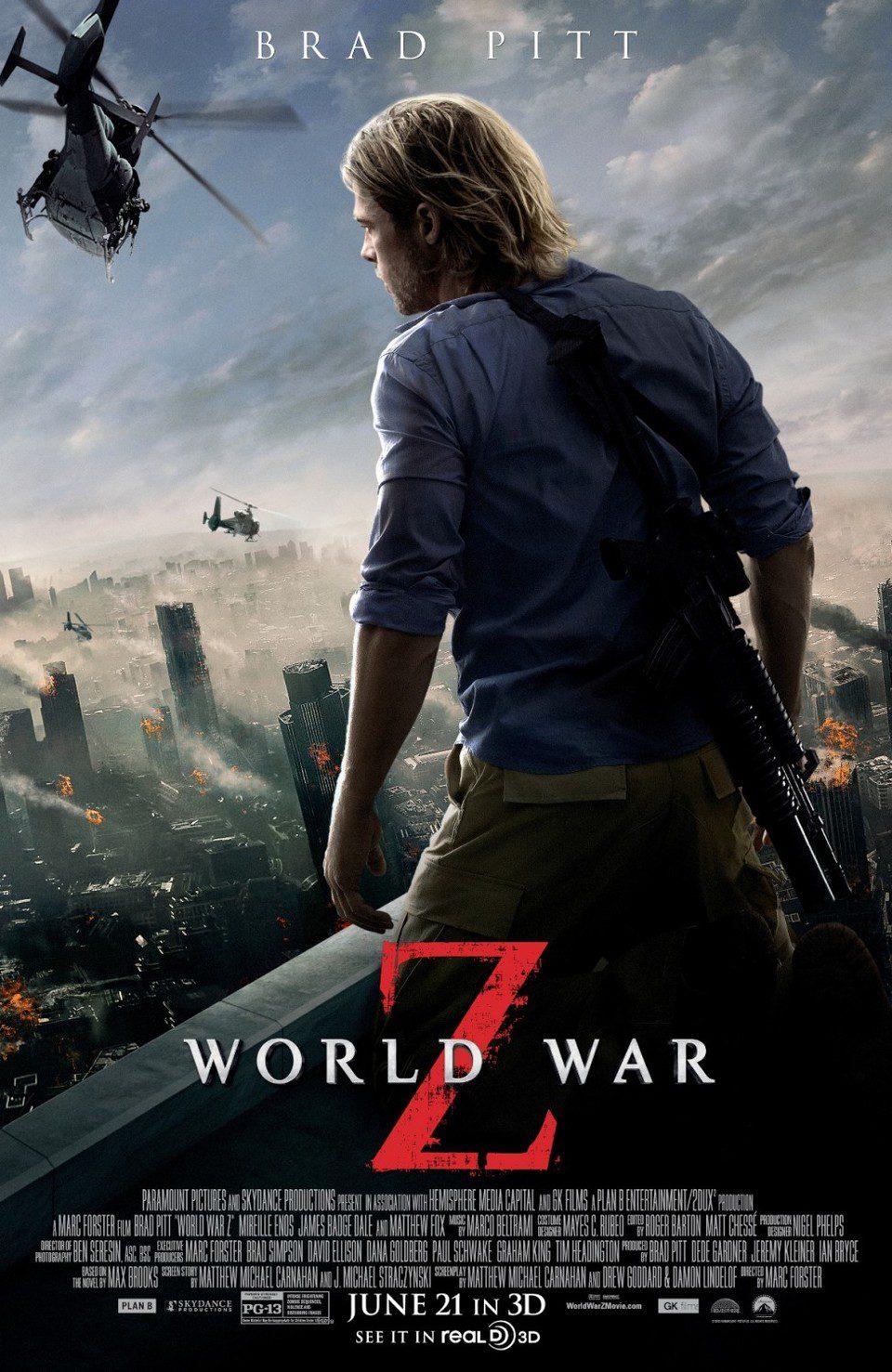 Cartel EEUU 2 de 'Guerra Mundial Z'
