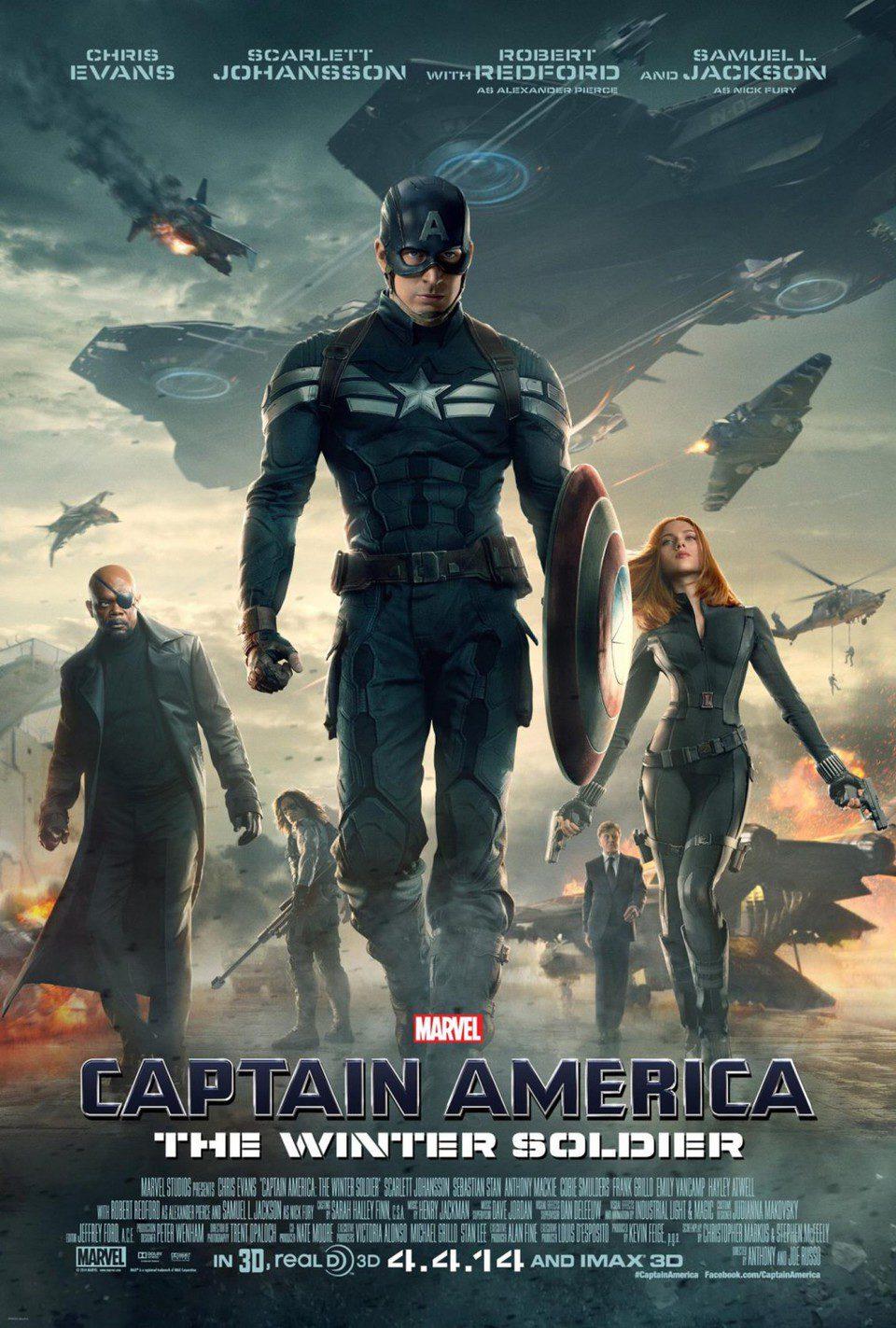 Cartel EEUU 2 de 'Capitán América: El soldado de invierno'