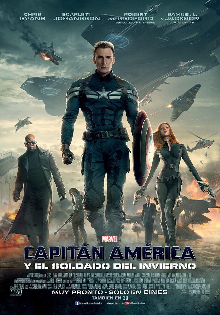 Cartel México de 'Capitán América: El soldado de invierno'