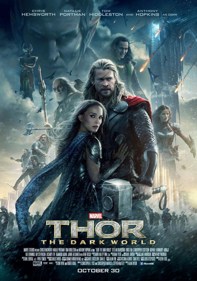 Cartel Reino Unido de 'Thor: El mundo oscuro'
