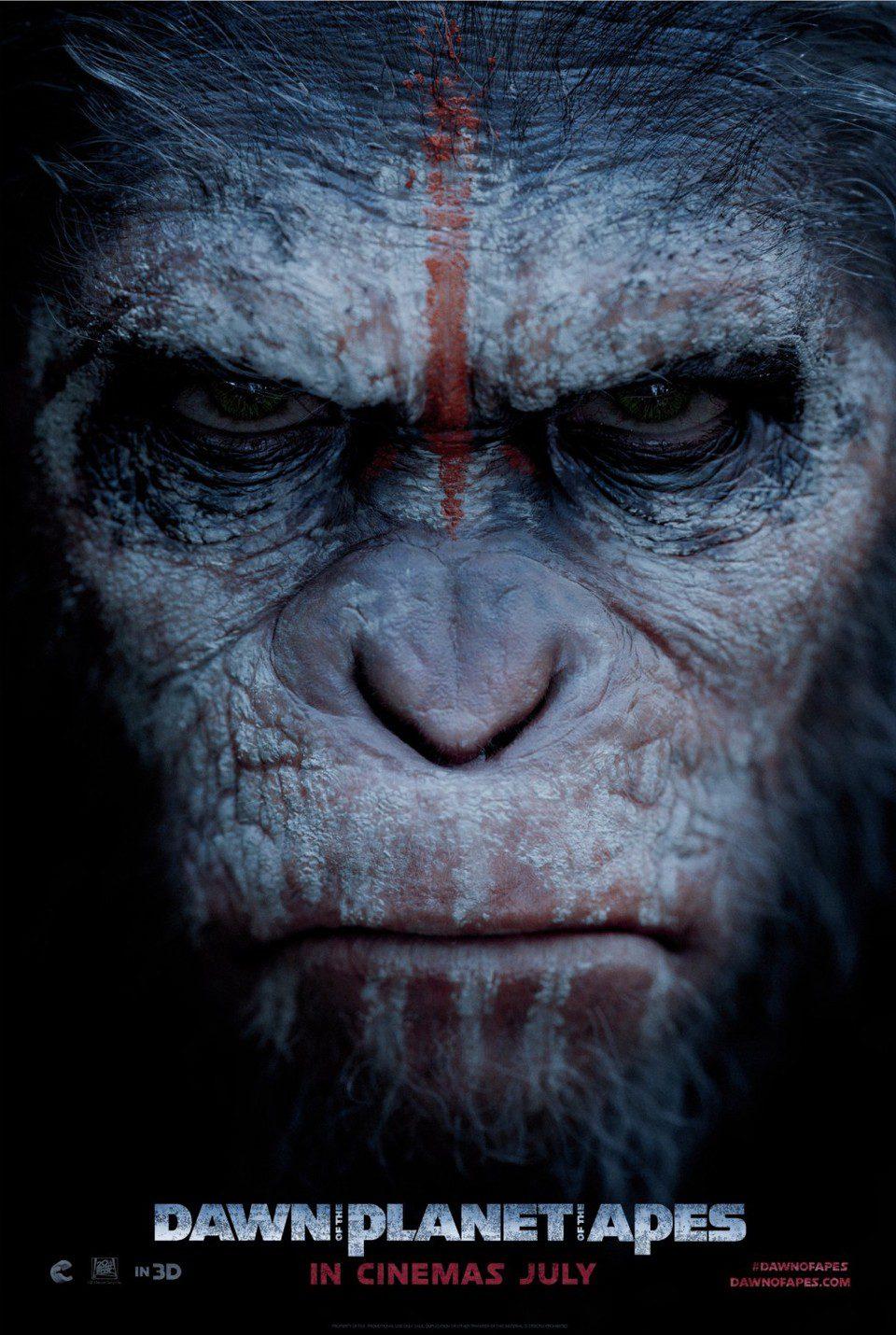 Cartel EEUU de 'El amanecer del planeta de los simios'
