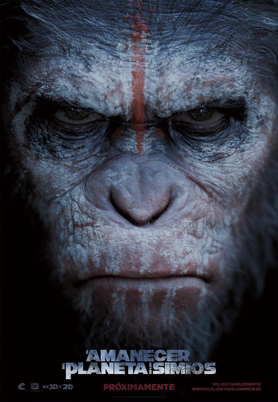Cartel España de 'El amanecer del planeta de los simios'