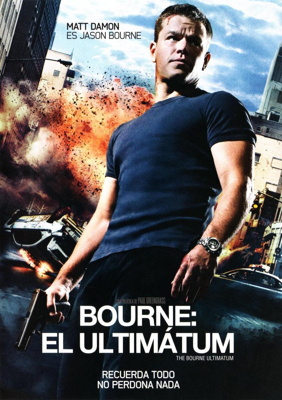 Cartel España de 'El ultimátum de Bourne'