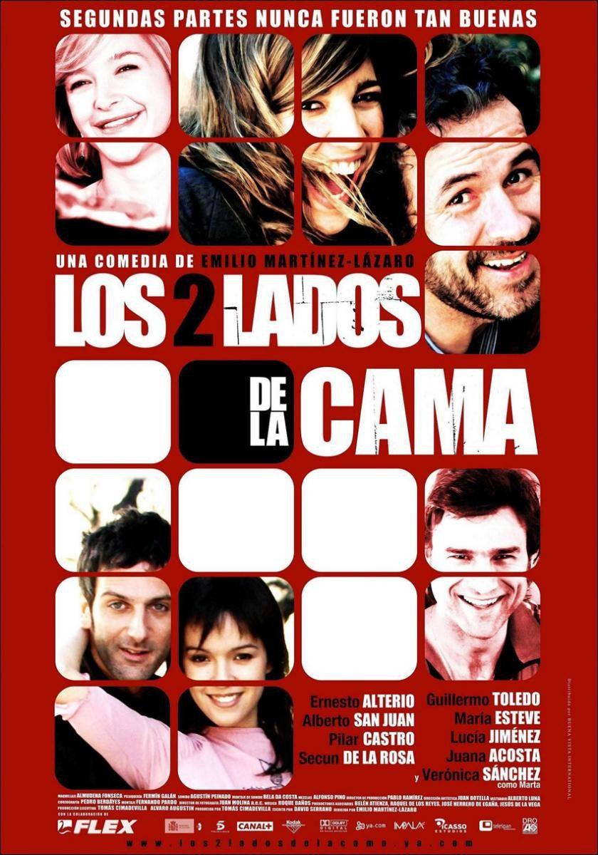 Cartel España de 'Los 2 lados de la cama'