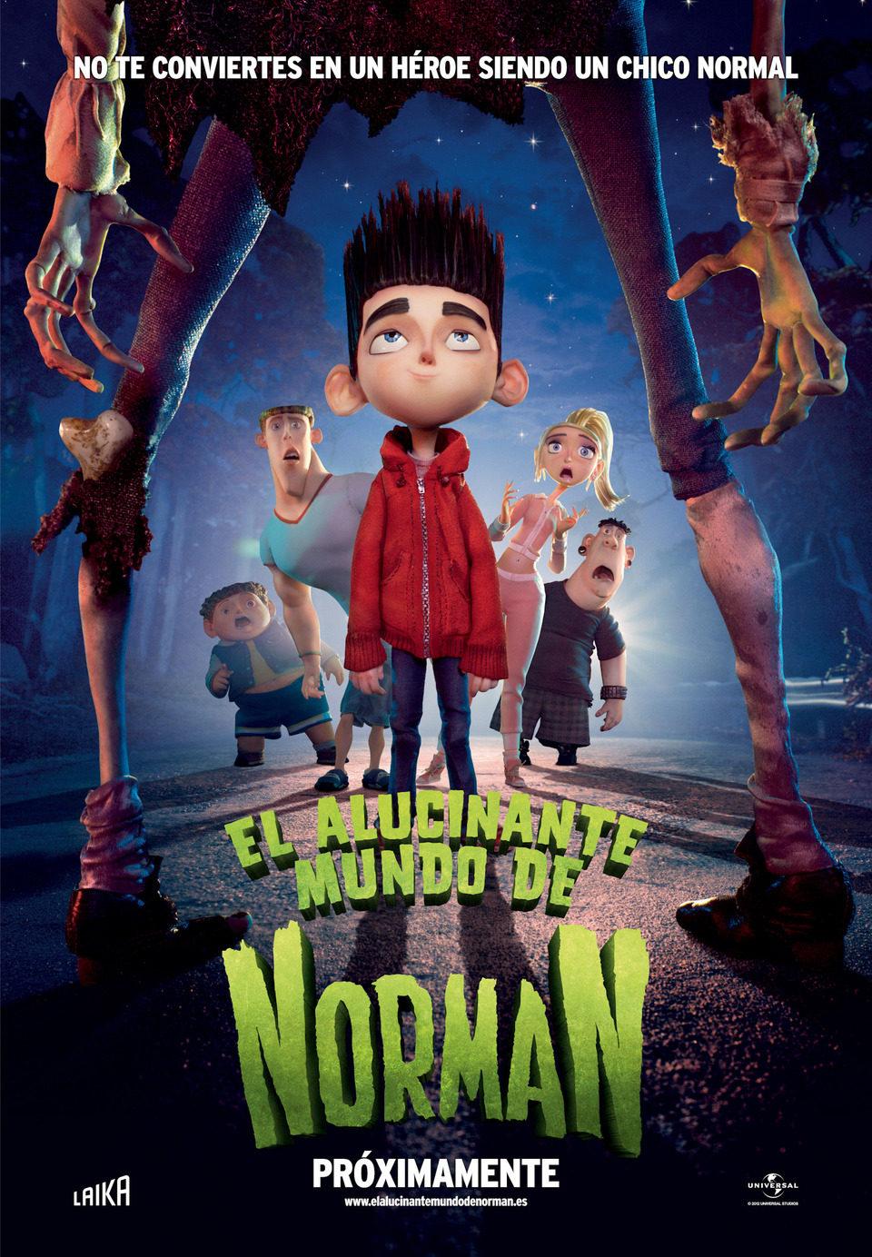 Cartel España de 'El alucinante mundo de Norman'