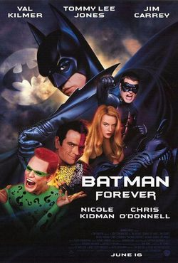 Cartel de Batman Forever