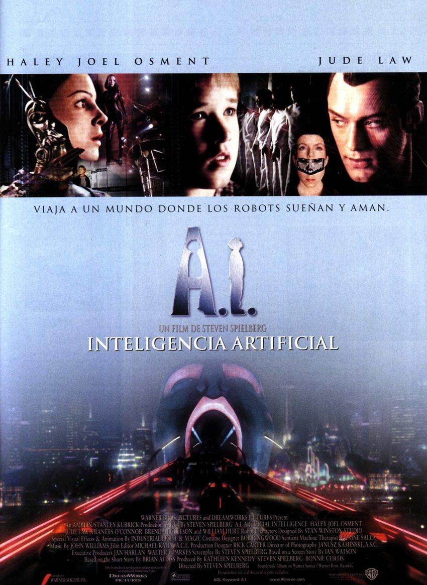 Cartel ESPAÑA de 'A.I. Inteligencia Artificial'