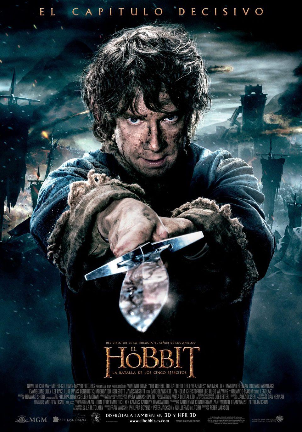 Cartel España de 'El Hobbit: La batalla de los cinco ejércitos'
