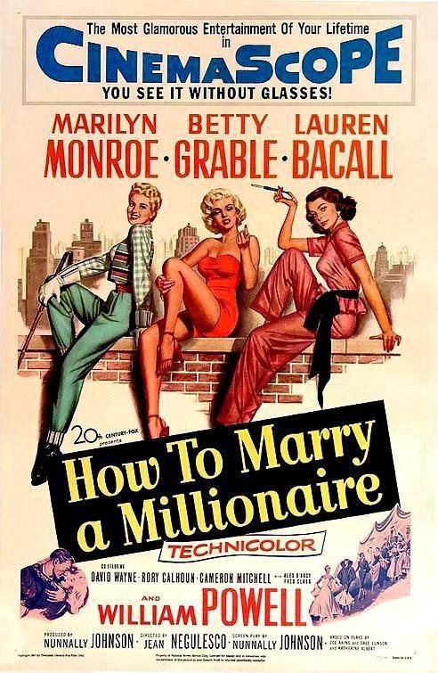 Cartel  de 'Cómo casarse con un millonario'