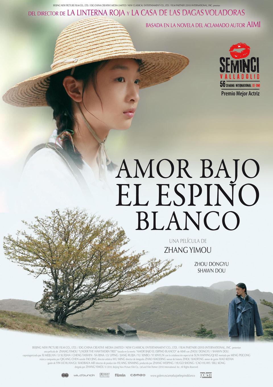 Cartel España de 'Amor bajo el espino blanco'