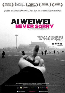 Cartel de Ai Weiwei: Never Sorry