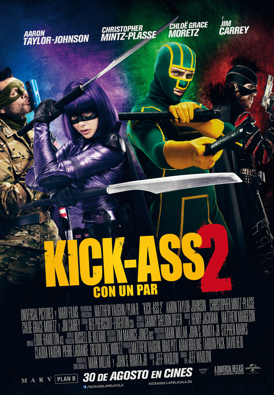 Cartel España de 'Kick-Ass 2: Con un par'