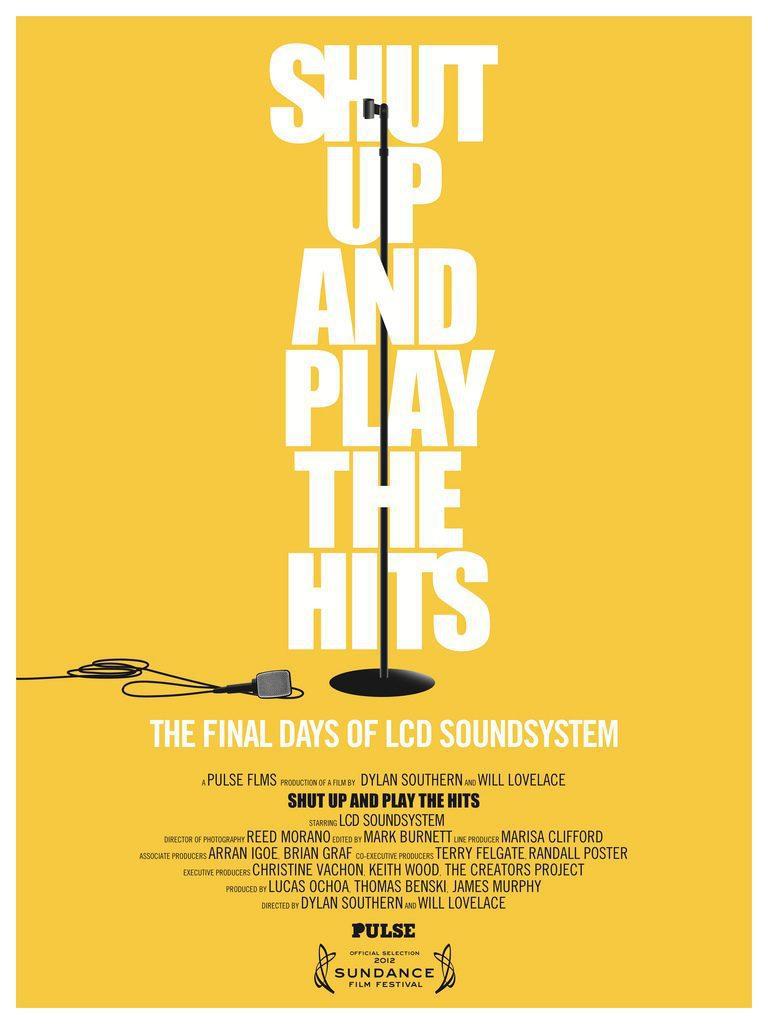 Cartel Reino Unido de 'Shut Up and Play the Hits'