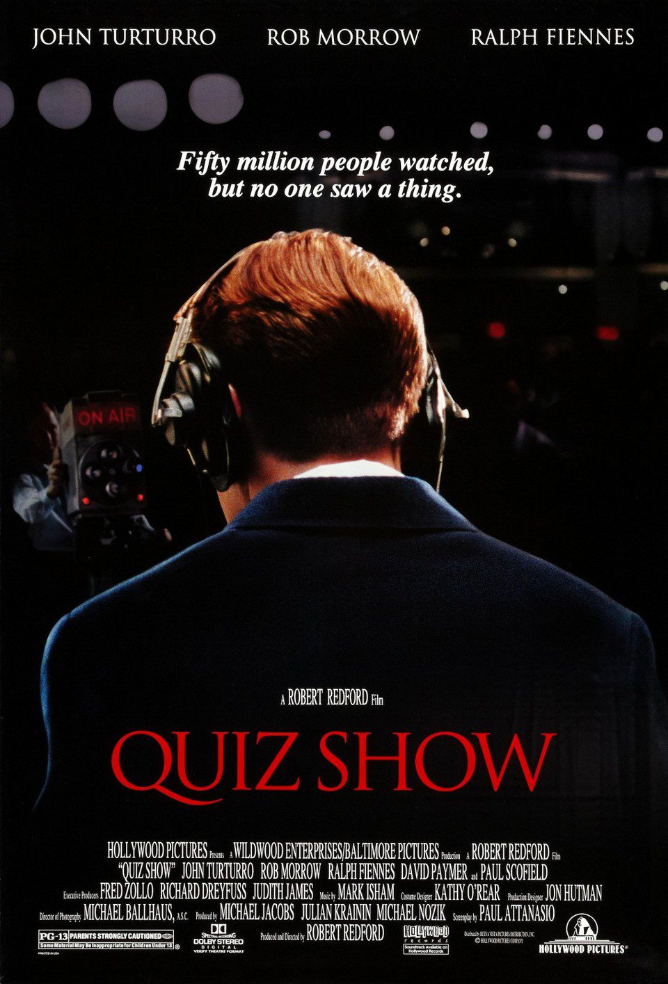 Cartel EEUU de 'Quiz Show (El dilema)'