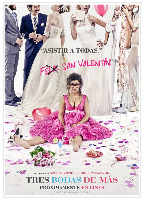 Cartel San Valentín de '3 bodas de más'