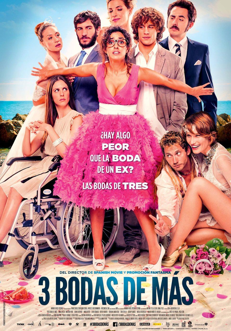 Cartel España 2 de '3 bodas de más'