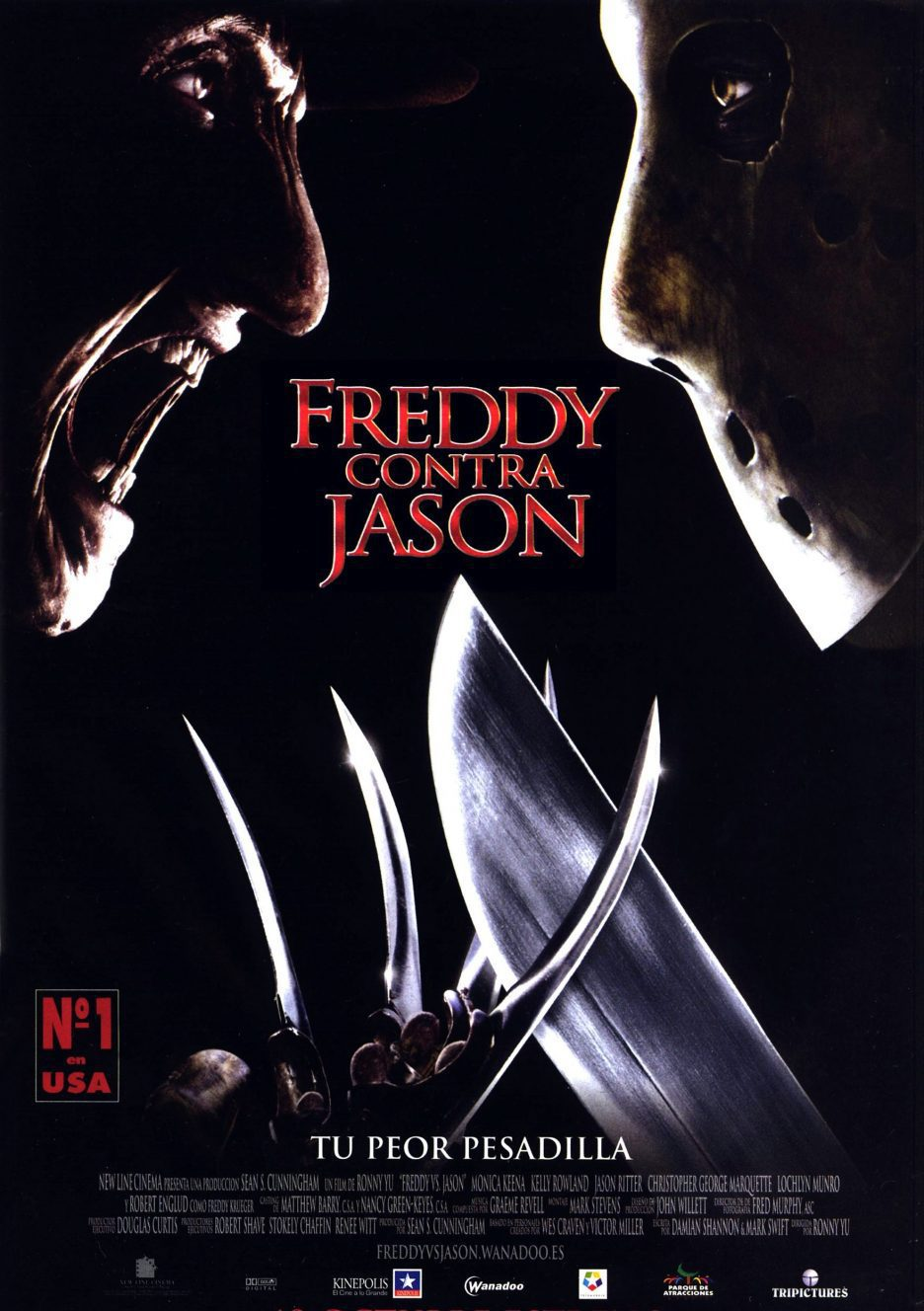 Cartel España de 'Freddy contra Jason'