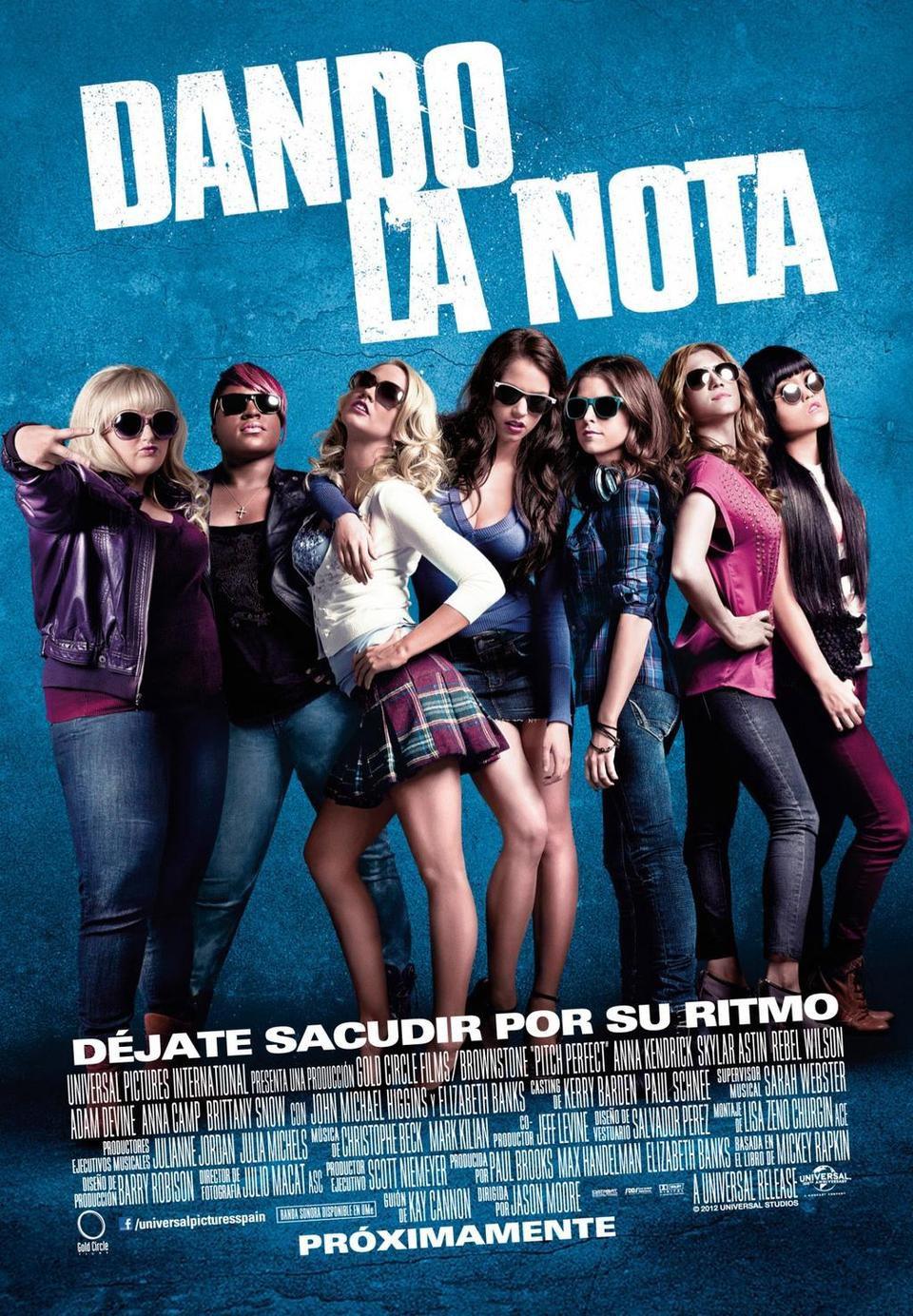 Cartel España de 'Dando la nota'