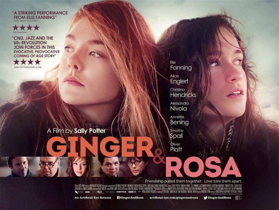 Cartel Reino Unido de 'Ginger & Rosa'