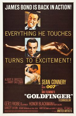 Cartel de James Bond contra Goldfinger