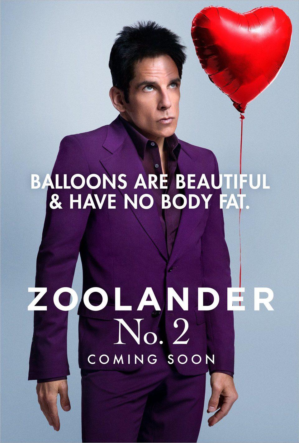 Cartel Ben Stiller San Valentín de 'Zoolander 2'
