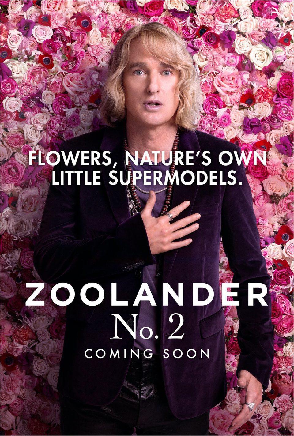 Cartel Owen Wilson San Valentín de 'Zoolander 2'