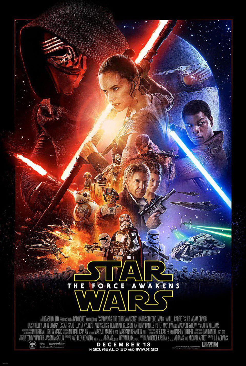 Cartel EEUU de 'Star Wars: Episodio VII - El despertar de la fuerza'