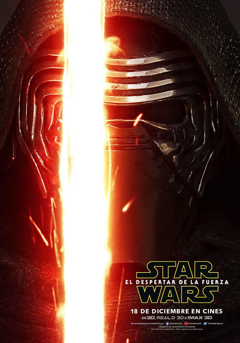 Cartel Kylo Ren - España de 'Star Wars: Episodio VII - El despertar de la fuerza'