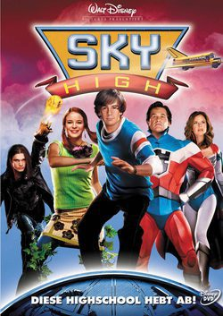 Cartel de Sky High. Una escuela de altos vuelos